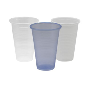 7oz and 9oz plastic cups.