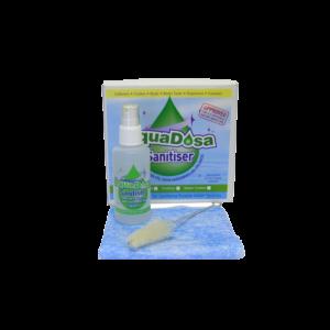 "alt=""sanitation-kit with cloth and bottle"""